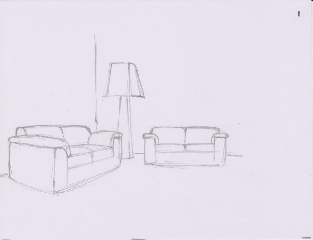 Drawing Room Corner Showpiece: OYEE-IHIIIR: HOW TO DRAW A SIMPLE LIVING ROOM