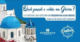 Cadastrar Promoção Le Postiche Verão Na Grécia Viagem de Cruzeiro 2020