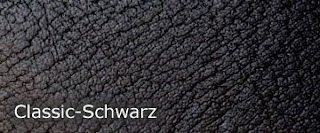Kunstledermusterkarte Classic-Schwarz
