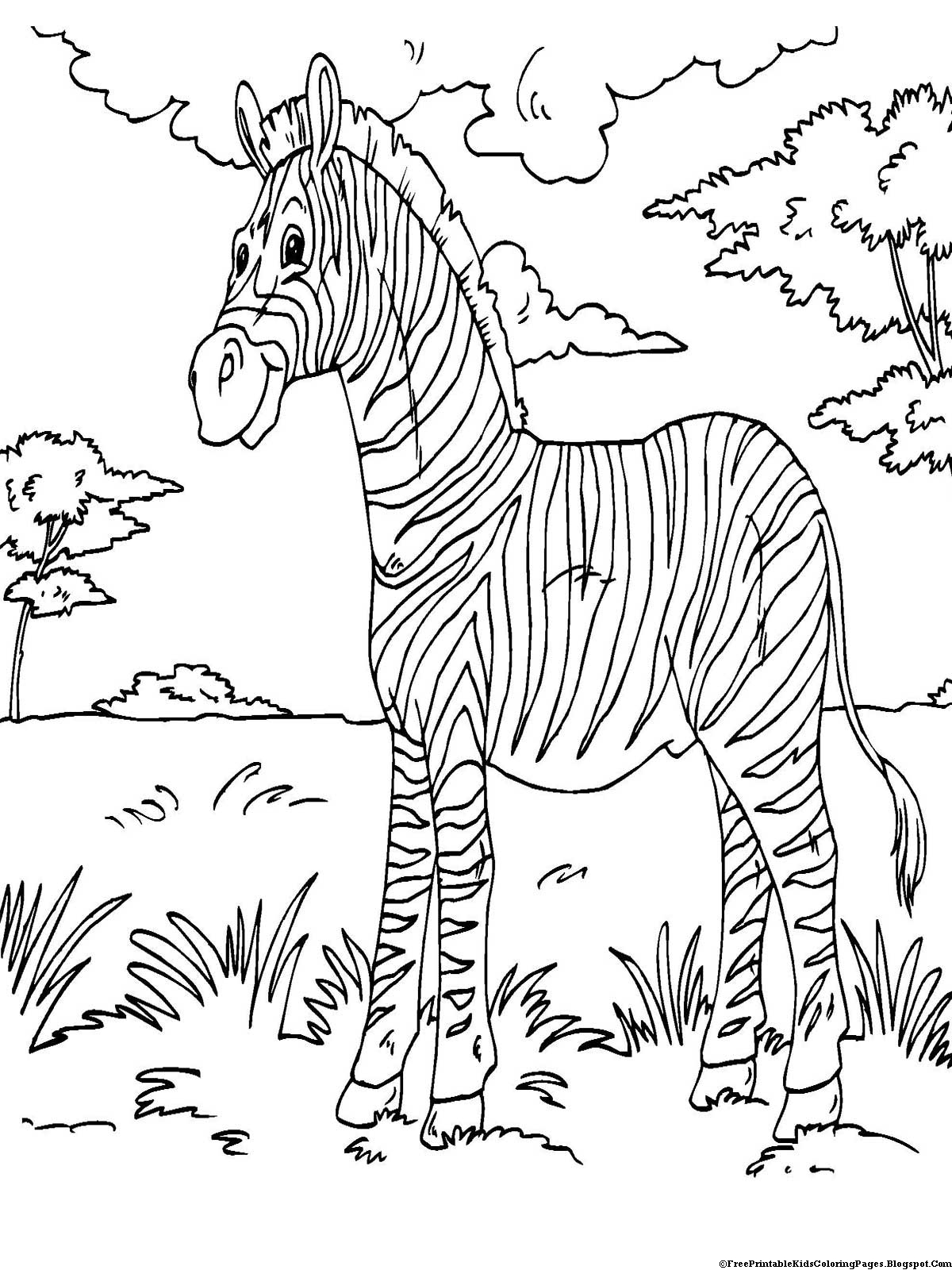 free printable kid coloring pages | Zebra Coloring Pages - Free Printable Kids Coloring Pages