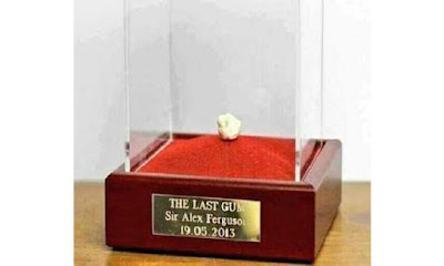 The last gum chewing by sir Alex Ferguson, 2013