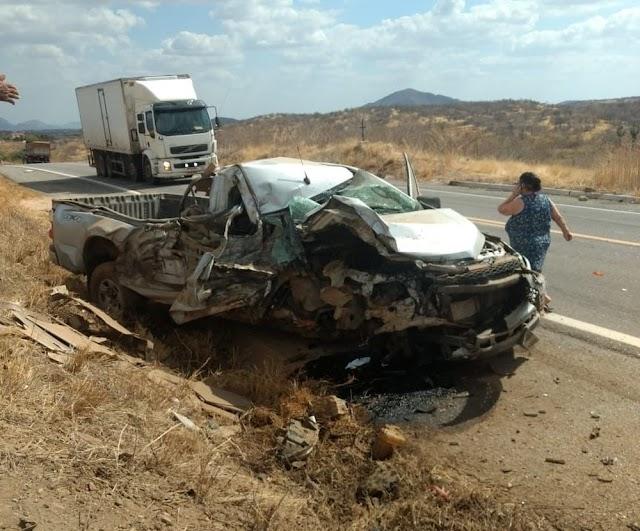 Carro da Polícia Rodoviária Federal sofre acidente no Ceará