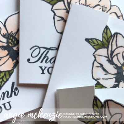 Mini Magnolia Blooms for Kylie's Demonstrator Training Blog Hop - July 2019 | Sneak Peek of the mini Magnolia Bloom cards | Nature's INKspirations by Angie McKenzie