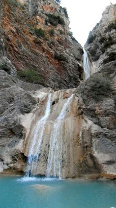 Waterfalls of Lepida Parnona Mountain, Arcadia, Greece.