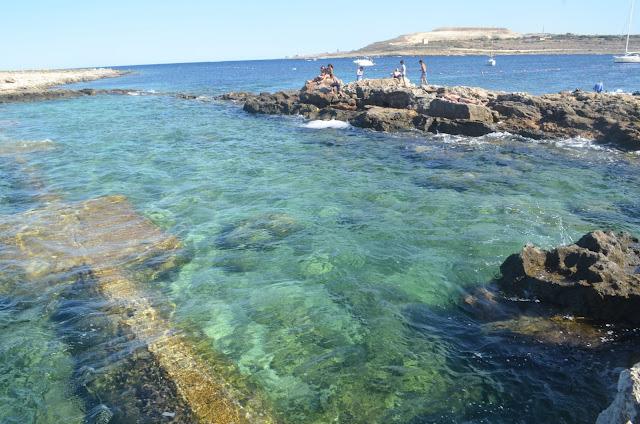 Qawra Point Beach