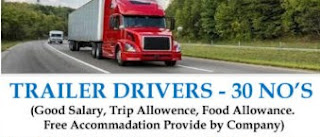 Trailer Driver For UAE To Saudi Arabia, Oman, Bahrain and Kuwait