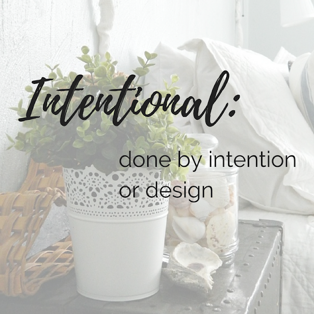 My word of the year for 2018 is Intentional, which means by intention or design.