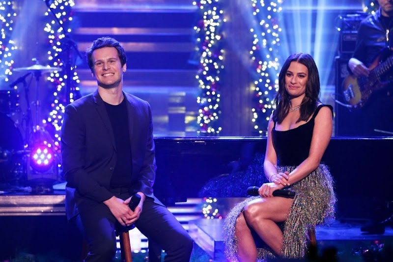 Lea Michele clicks at Tonight Show with Jimmy Fallon 16 Dec-2019