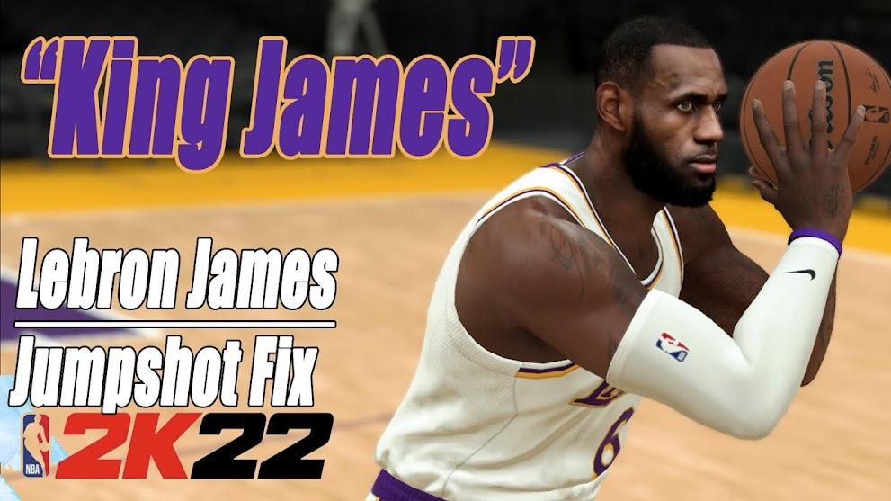NBA 2K22 LeBron James Jumpshot Fix NBA2K22