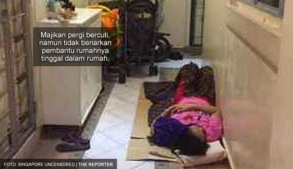 Apa jadahnya majikan?! Pergi bercuti, pembantu rumah disuruh tidur di koridor