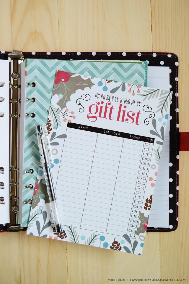 MHCT&M: Christmas Gift List Printables   A Glimpse Inside