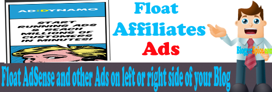 Add Float Adsense and Others On Left or Right Side Of Your Blog