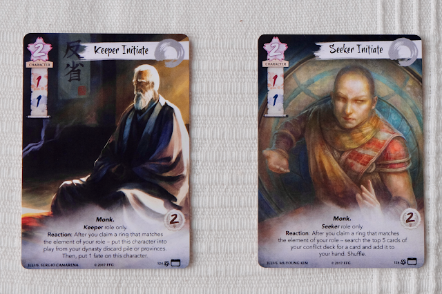 Alternate Art cards of Seeker Initiate and Keeper Initiate