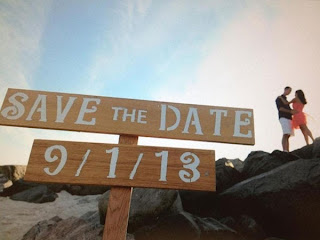 wood sign save date