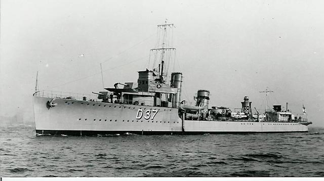 HMS Vortigern (D 37), sunk on 15 March 1942 worldwartwo.filminspector.com