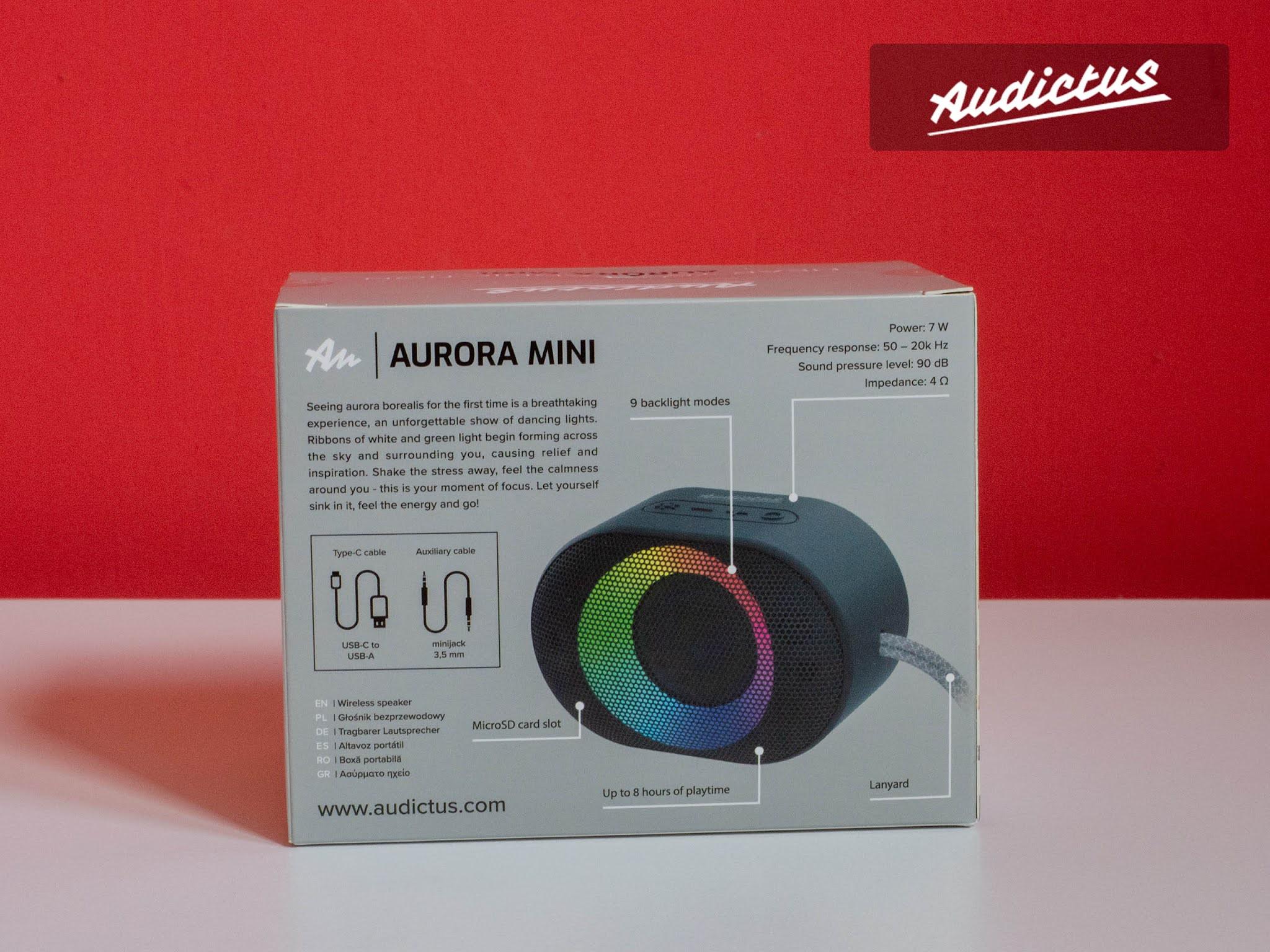 Audictus Aurora Mini tył pudełka