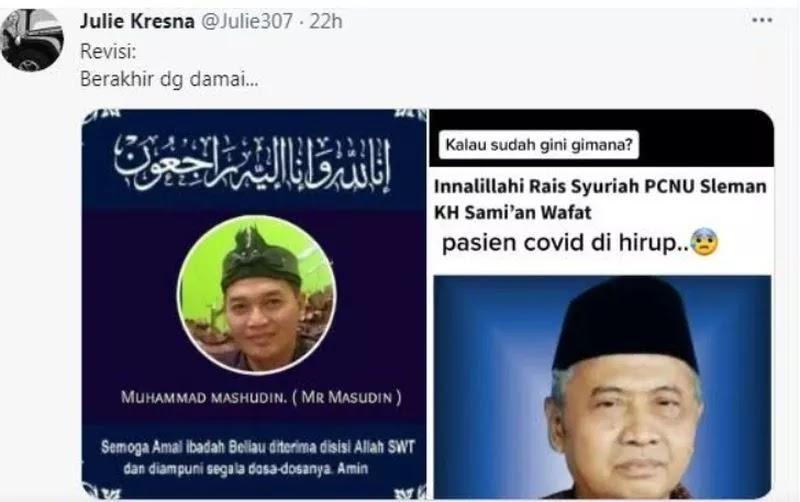 Ansor DIY Buka Suara soal Viral Rais Syuriah PCNU Sleman Wafat Usai Hirup Napas Pasien Covid-19
