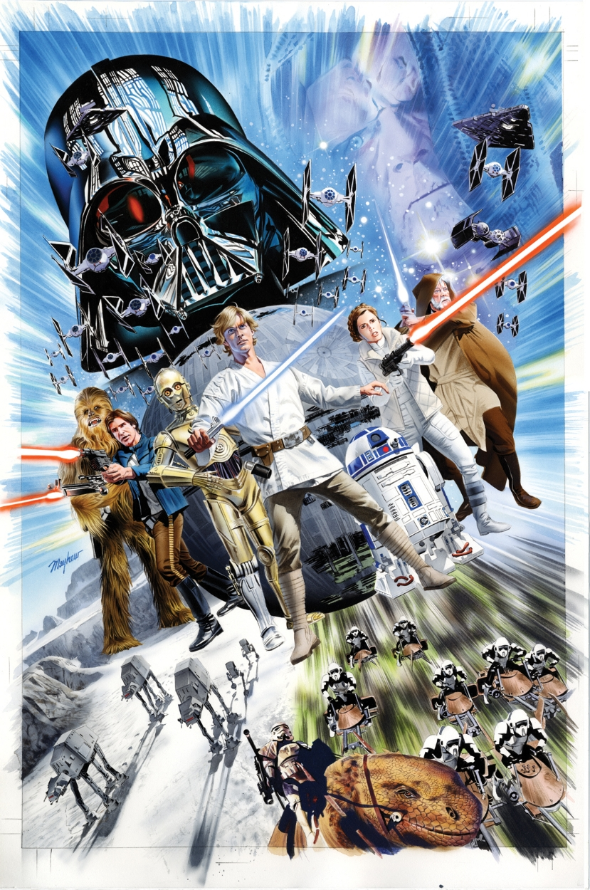 Color art and empire by natasha eaton - Unlettered Cover Art For The Yesteryear Comics Variant Edition Of Star Wars Shattered Empire 1 By Mike Mayhew