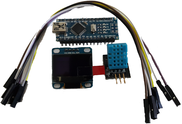 Arduino + LCD Screen + DHT11