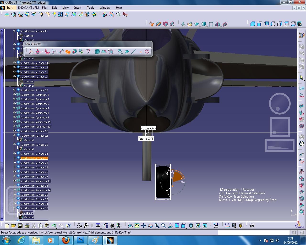 F 18 Hornet In Catia V5 For Final Project Matt Produce