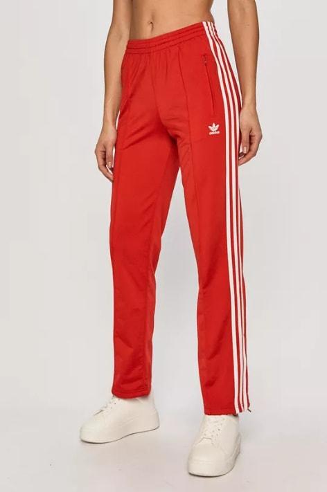 Pantaloni de trening rosii de dama largi