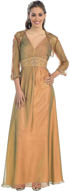 Luxury Gold Mother of The Bride Dresses
