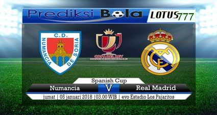 prediksi skor Numancia vs Real Madrid 05 januari 2018