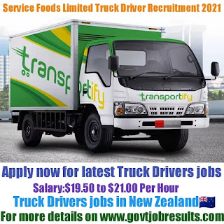 Service Foods Limited Truck Driver Recruitment 2021-22