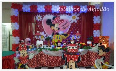 Decoração festa infantil Minnie Mouse