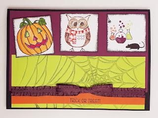 Halloweenkarte vom SU! Demotreffen Stampin' Up! www.eris-kreativwerkstatt.blogspot.de