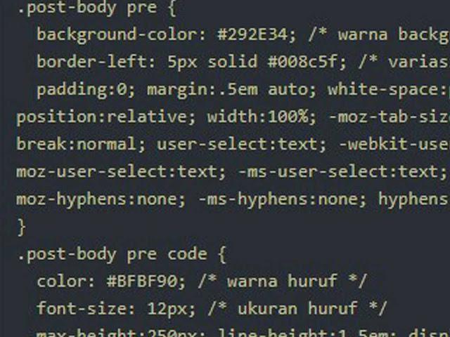 Cara Membuat Syntax Highlighter Di Blog