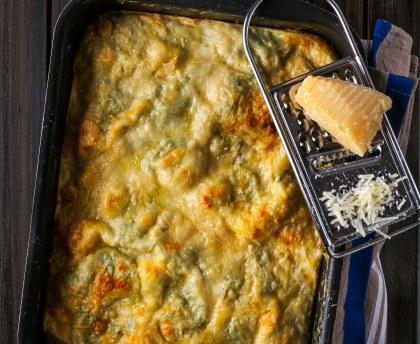 Ricotta and basil lasagna