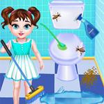 لعبة تنظيف الحمام