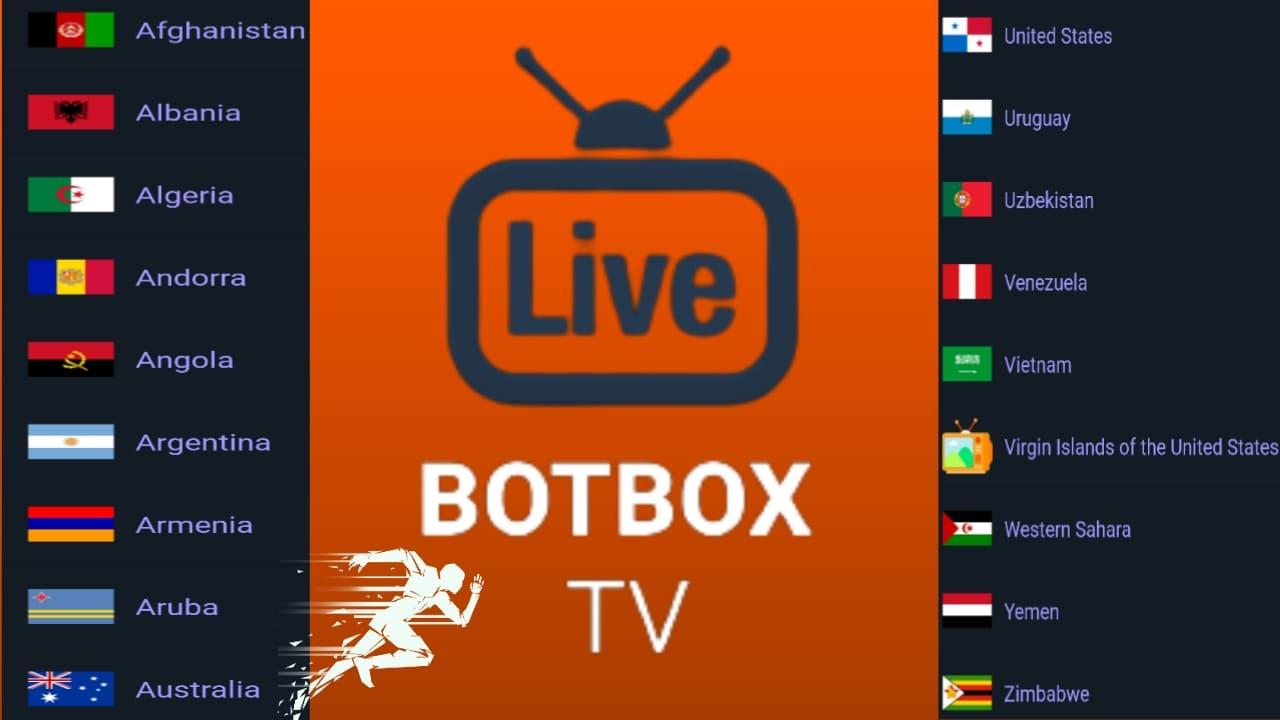 تطبيق القارات العالمية botbox-tv لمشاهدة القنوات من هوت بيرد واسترا مجانا