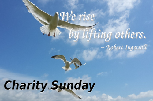 Charity Sunday banner