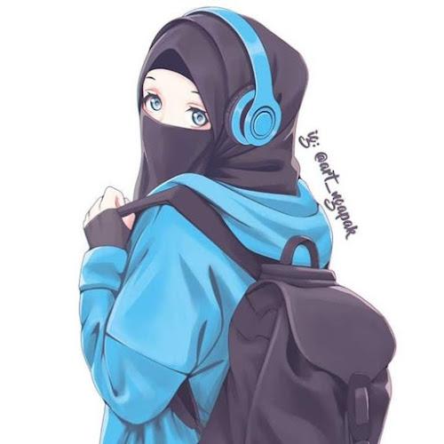 kartun muslimah dewasa keren bercadar