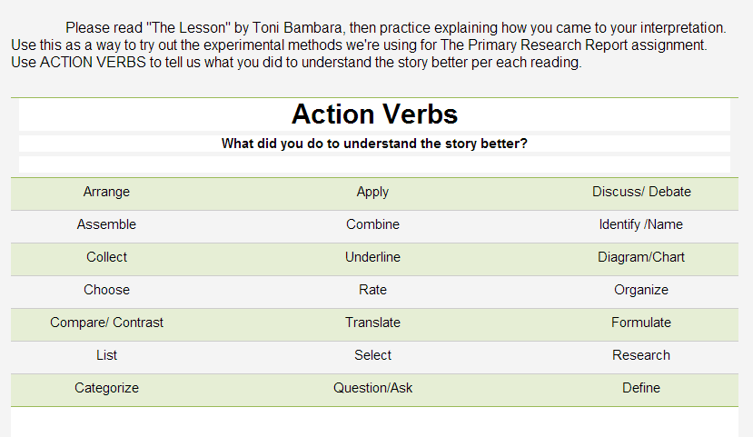 action verb for resumes