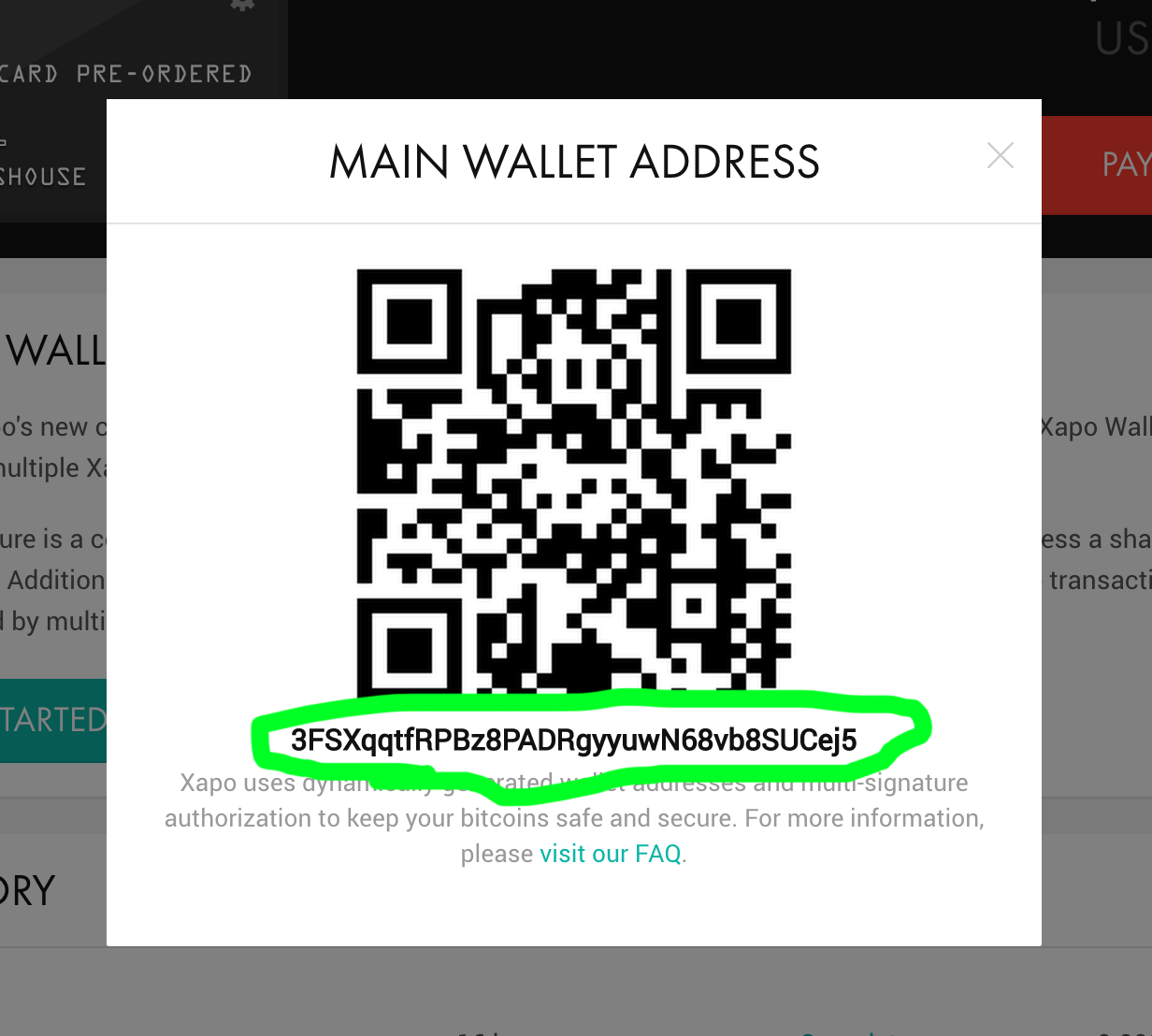 Xapo wallet address pandora one annual how to create a bitcoin wallet you can get your bitcoin address by clicking on my address the xapo wallet bitcoin address is dynamic xapo mobile app ccuart Images