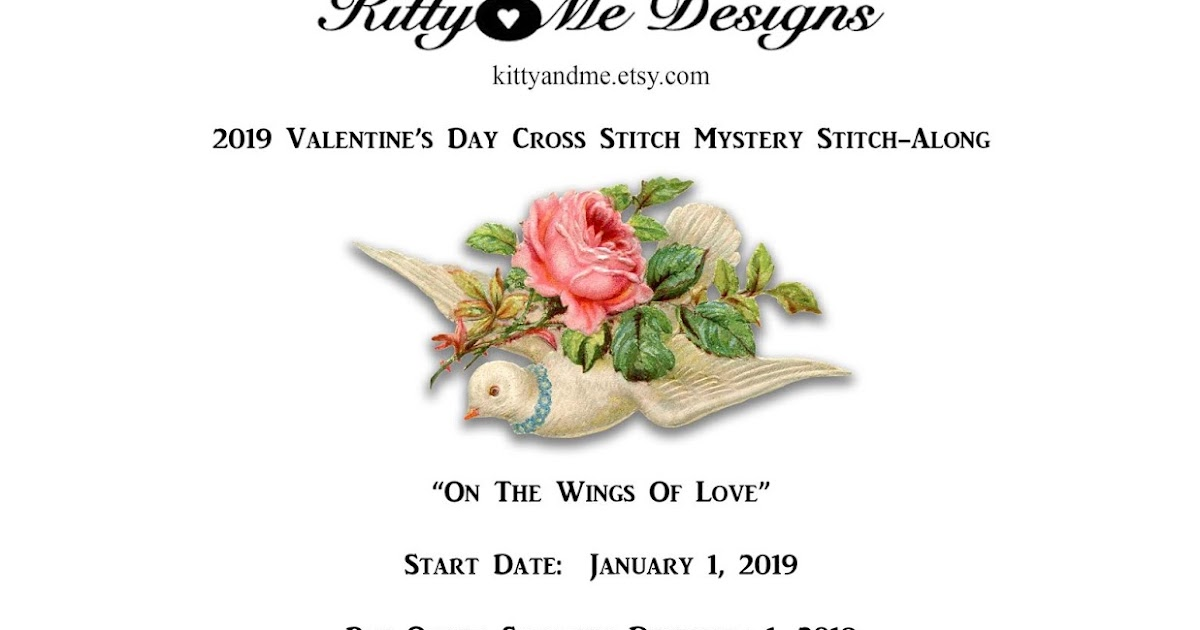 Kitty And Me Designs Valentine S Day 2019 Cross Stitch Mystery