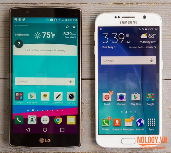 Kích thước màn hình Lg G4 cũ lớn hơn s6 cũ