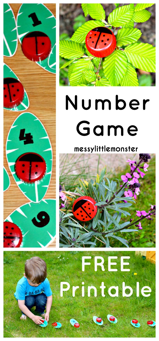 Learn to count ladybird craft (FREE PRINTABLE NUMBER LEAVES)
