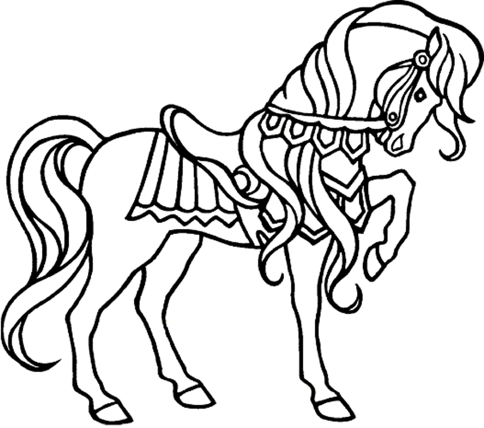 10 Mewarnai Gambar Kuda Pony Pemandangan Kartun Masjid