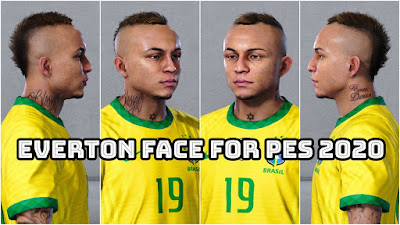 PES 2020 Faces Everton Soares by Bolulu