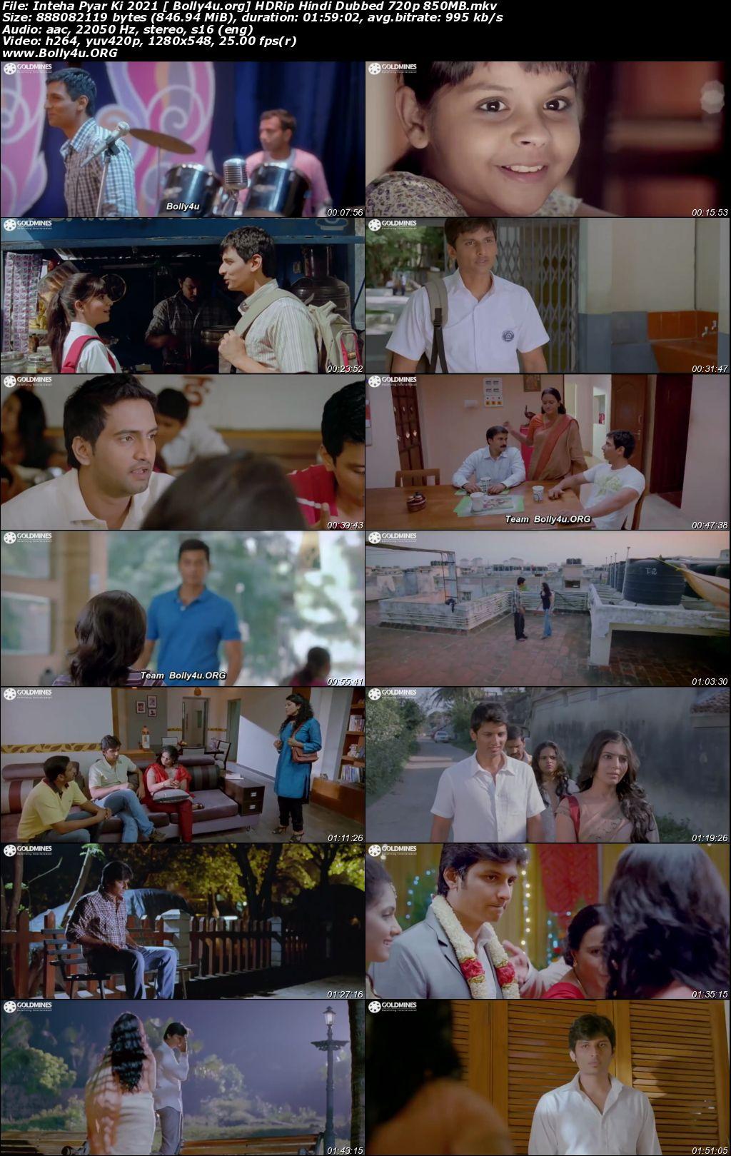 Inteha Pyar Ki 2021 HDRip 850MB Hindi Dubbed 720p Download