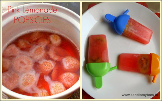 Recipe for Pink Lemonade Popsicles - perfect for the summer!