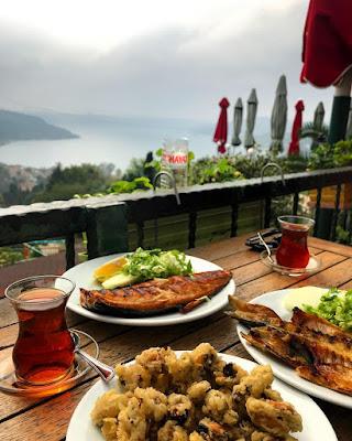anadolu kavağı kahvaltı mekanları beykoz kahvaltı yoros kalesi manzara anadolu yakası kahvaltı yoros castle