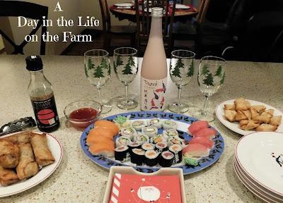Chinese Appetizer Buffet and Sake