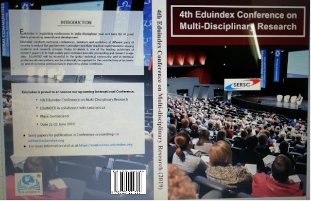 4th EDUINDEX CONFERENCE ON MULTIDISCIPLINARY RESEARCH