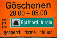 Gotthard-Strassentunnel 20:00 - 05:00 gesperrt