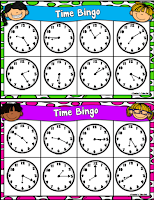 Time Bingo Cards